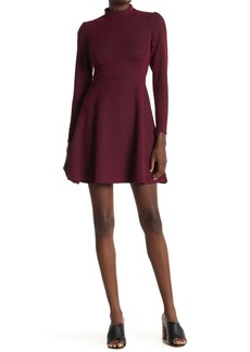 Velvet by Graham & Spencer Mock Neck Long Sleeve Skater Dress