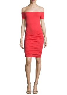 Velvet by Graham & Spencer Mora Off-The-Shoulder Knit Sheath Dress