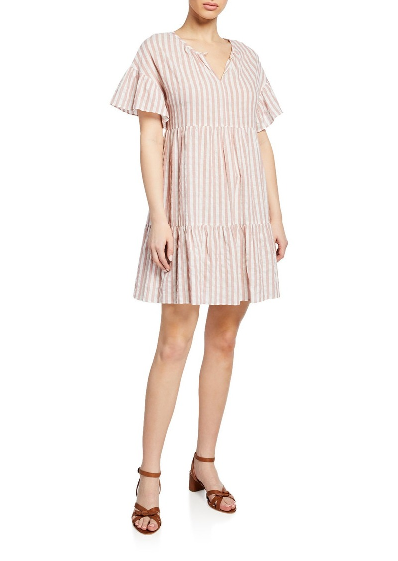Velvet by Graham & Spencer Nikki Striped Cotton Short-Sleeve Dress