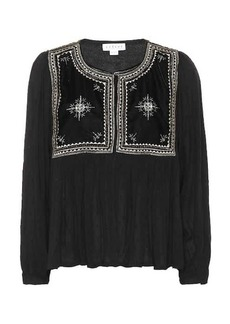 Velvet by Graham & Spencer Nixi embroidered top