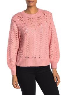 Velvet by Graham & Spencer Open Stitch Blouson Sleeve Sweater