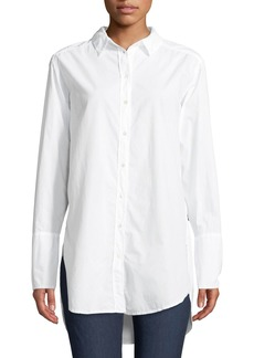Velvet by Graham & Spencer Oversized Poplin Button-Down Top