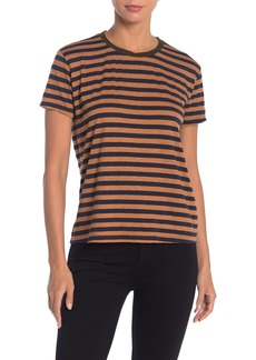 Velvet by Graham & Spencer Peace Striped Slub Knit T-Shirt