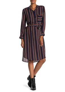 Velvet by Graham & Spencer Pero Striped Midi Shirt Dress