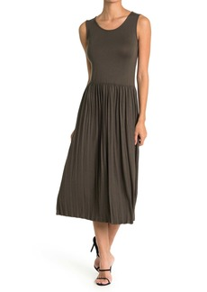 Velvet by Graham & Spencer Pleated Sleeveless Dress