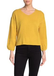 Velvet by Graham & Spencer Pointelle Knit Sweater
