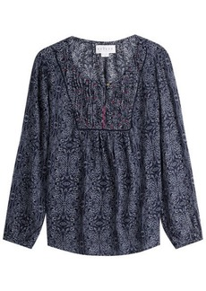 Velvet by Graham & Spencer Printed Tunic Blouse