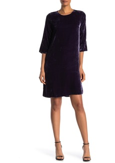 Velvet by Graham & Spencer Prunella Velvet 3/4 Sleeve Shift Dress