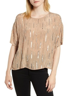 Velvet by Graham & Spencer Brighton Rain Drop Sequin Top