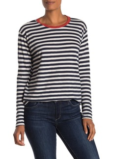 Velvet by Graham & Spencer Renny Striped Slub Long Sleeve T-Shirt