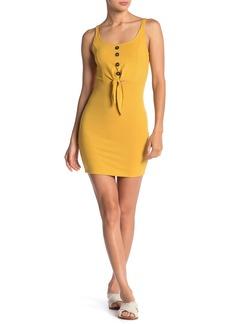Velvet by Graham & Spencer Ribbed Button Front Knit Mini Dress