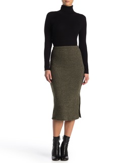 Velvet by Graham & Spencer Ribbed Knit Pencil Skirt