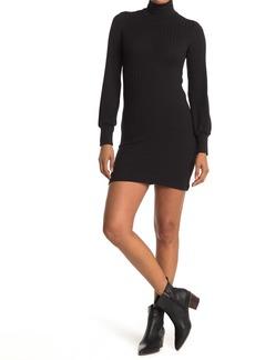 Velvet by Graham & Spencer Ribbed Mock Neck Mini Dress