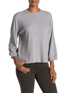 Velvet by Graham & Spencer Roberta Heathered 3/4 Sleeve Thermal Top