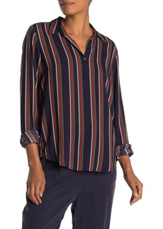 Velvet by Graham & Spencer Rosemond Striped High/Low Tunic Blouse