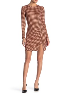 Velvet by Graham & Spencer Ruche Print Vent Mini Dress