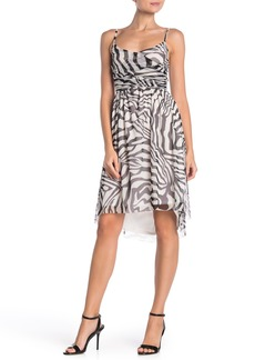 Velvet by Graham & Spencer Ruched Mesh Sleeveless High/Low Dress