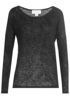 Velvet by Graham & Spencer Sheer Long Sleeved Top