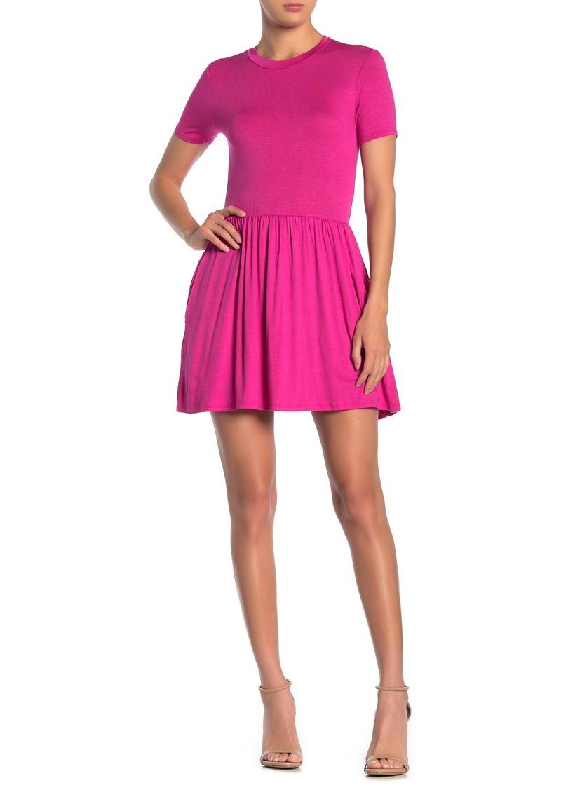 Velvet by Graham & Spencer Short Sleeve Jersey Mini Dress