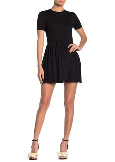 Velvet by Graham & Spencer Short Sleeve Jersey Mini Dress