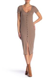 Velvet by Graham & Spencer Short Sleeve Ribbed Knit Dress