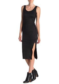 Velvet by Graham & Spencer Side Button Stripe Dress