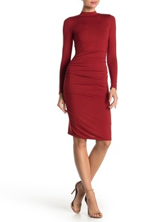 Velvet by Graham & Spencer Side Ruched Mock Neck Dress