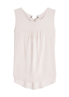 Velvet by Graham & Spencer Sleeveless Blouse with Lace Up Back