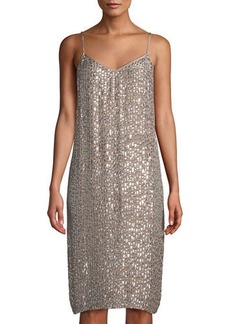 Velvet by Graham & Spencer Sleeveless Sequin Shift Dress