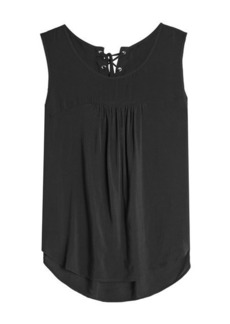 Velvet by Graham & Spencer Sleeveless Top with Lace-Up Back