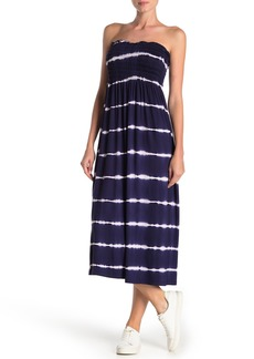 Velvet by Graham & Spencer Smocked Midi Tie Dye Dress