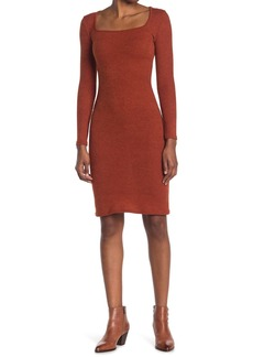 Velvet by Graham & Spencer Square Neck Ribbed Knit Dress