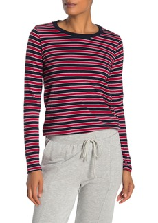Velvet by Graham & Spencer Stripe Crew Neck Long Sleeve T-Shirt