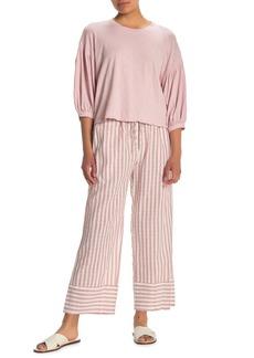 Velvet by Graham & Spencer Stripe Woven Wide Leg Pants