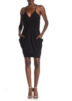Velvet by Graham & Spencer Surplice Racerback Pocketed Dress