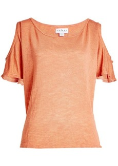 Velvet by Graham & Spencer T-Shirt with Cut-Out Shoulders