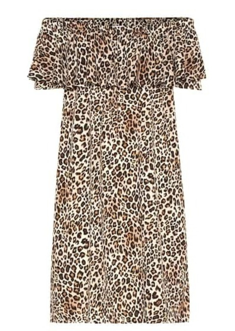 Velvet by Graham & Spencer Taye leopard-print dress