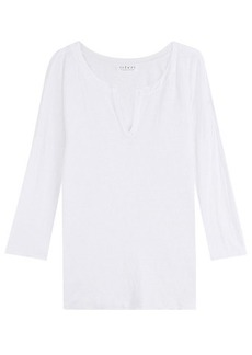 Velvet by Graham & Spencer V-Neck Linen Top