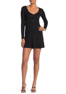Velvet by Graham & Spencer V-Neck Long Sleeve Skater Dress