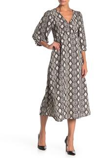 Velvet by Graham & Spencer V-Neck Puff Sleeve Empire Midi Dress
