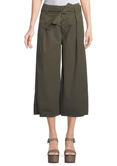 Velvet by Graham & Spencer Arisa Wide-Leg Crop Cotton-Twill Pants