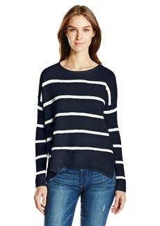 Velvet by Graham & Spencer Women's Cashmere Blend Stripe Sweater  M
