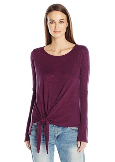Velvet by Graham & Spencer Women's Textured Knit Tie Waist Top  M