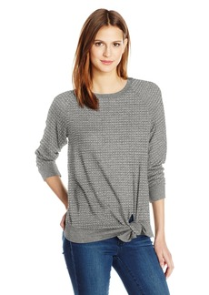 Velvet by Graham & Spencer Women's Thermal Knit Knot Front Top  M