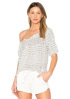 Velvet by Graham & Spencer Abiel Blouse in Ivory. - size L (also in M,S,XS)