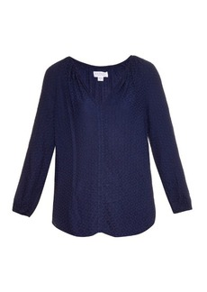 Velvet By Graham & Spencer Alissa jacquard blouse