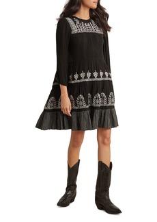 Velvet by Graham & Spencer Arabella Embroidered Shift Dress