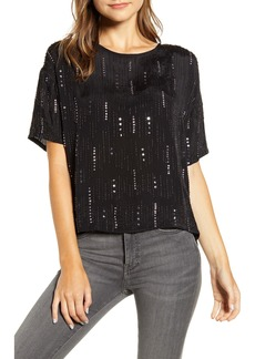 Velvet by Graham & Spencer Beaded Short Sleeve Blouse