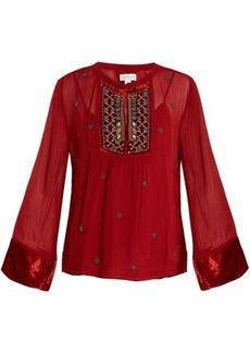 Velvet By Graham & Spencer Becky embellished chiffon blouse