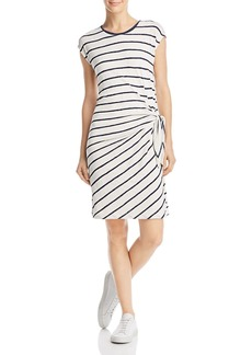 Velvet by Graham & Spencer Bellamy Tie-Side Striped Tee Dress